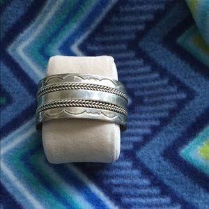 Native Sterling silver Tahe cuff vintage bracelet